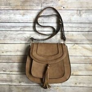 Franco Sarto Tassel Saddle Crossbody Bag